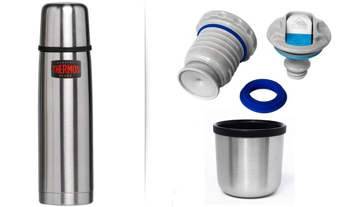 Термос фирмы Термос (Thermos) с кнопкой и чашкой 1 л Mountain FFB (150051)