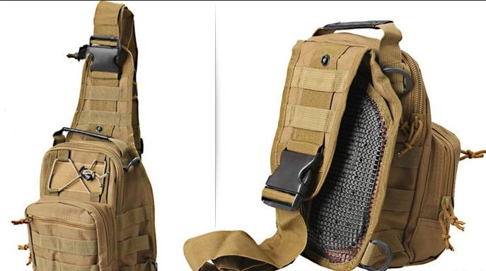 Тактическая - штурмовая универсальная сумка Silver Knight на 9 литров с системой M.O.L.L.E Coyote (098 песок)