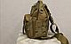 Тактическая - штурмовая универсальная сумка Silver Knight на 9 литров с системой M.O.L.L.E Coyote (098 песок), фото 3