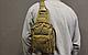 Тактическая - штурмовая универсальная сумка Silver Knight на 9 литров с системой M.O.L.L.E Coyote (098 песок), фото 4
