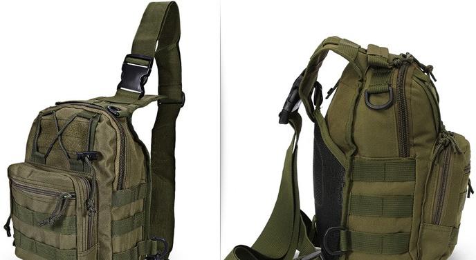 Тактична - штурмова універсальна сумка Silver Knight на 9 літрів з системою M. O. L. L. E Olive (098 олива)