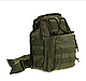 Тактична - штурмова універсальна сумка Silver Knight на 9 літрів з системою M. O. L. L. E Olive (098 олива), фото 5