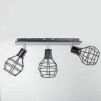 Светильник потолочный в стиле Лофт 1173WG BK 530*160*260