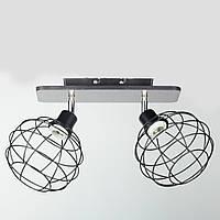 Светильник потолочный в стиле Лофт SU-1173WU/2C BK 480*180*270