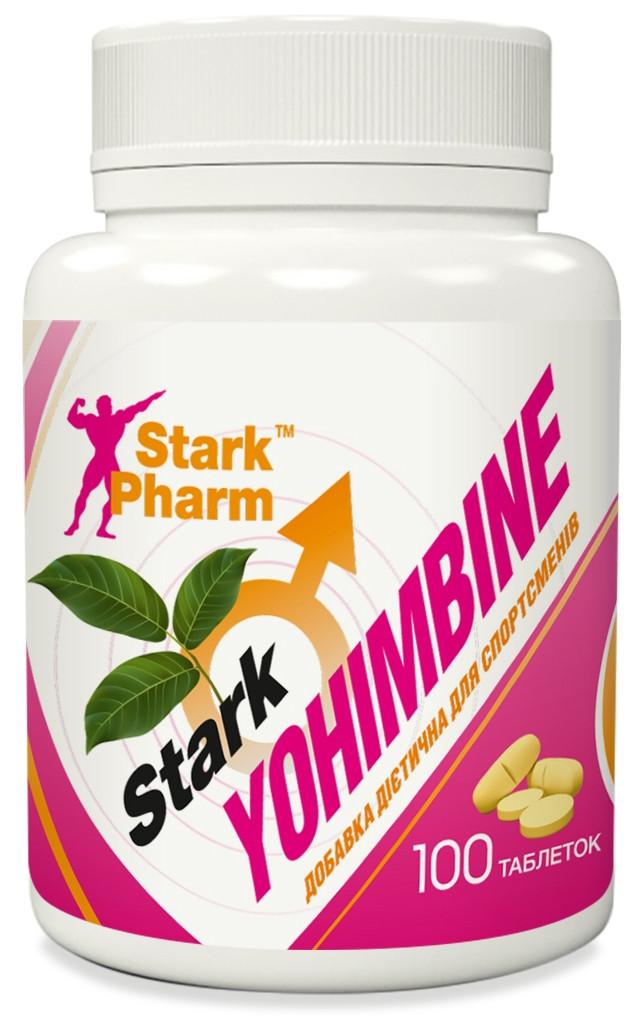 Жиросжигатель проблемных зон Stark Pharm - Yohimbine 10 мг (100 таблеток)