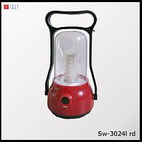 Светильник аккумуляторный SW-3024L RD
