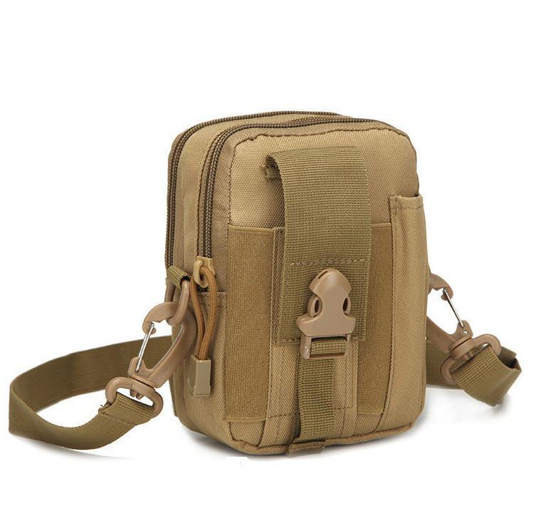 Тактическая (поясная) сумка - подсумок с ремнём Mini warrior с системой M.O.L.L.E koyote