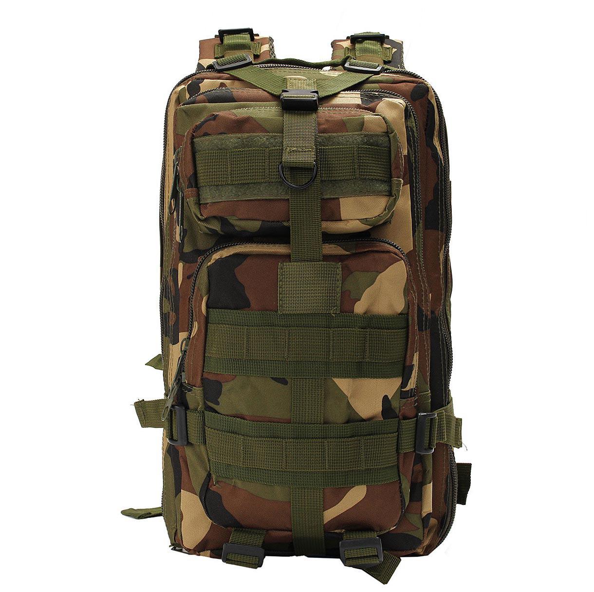 Тактичний (Міський) рюкзак Oxford 600D з системою M. O. L. L. E woodland (ta25)