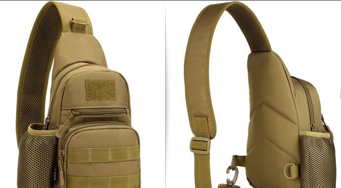 Тактическая, штурмовая, военная, универсальная, городская сумка на 5-6 литров с системой M.O.L.L.E coyote (s4)