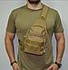 Тактическая, штурмовая, военная, универсальная, городская сумка на 5-6 литров с системой M.O.L.L.E coyote (s4), фото 4