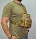 Тактическая, штурмовая, военная, универсальная, городская сумка на 5-6 литров с системой M.O.L.L.E coyote (s4), фото 5