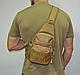 Тактическая, штурмовая, военная, универсальная, городская сумка на 5-6 литров с системой M.O.L.L.E coyote (s4), фото 6