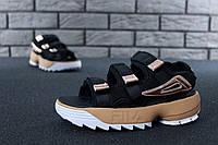 Женские сандали FILA Disruptor Sandals черные 36