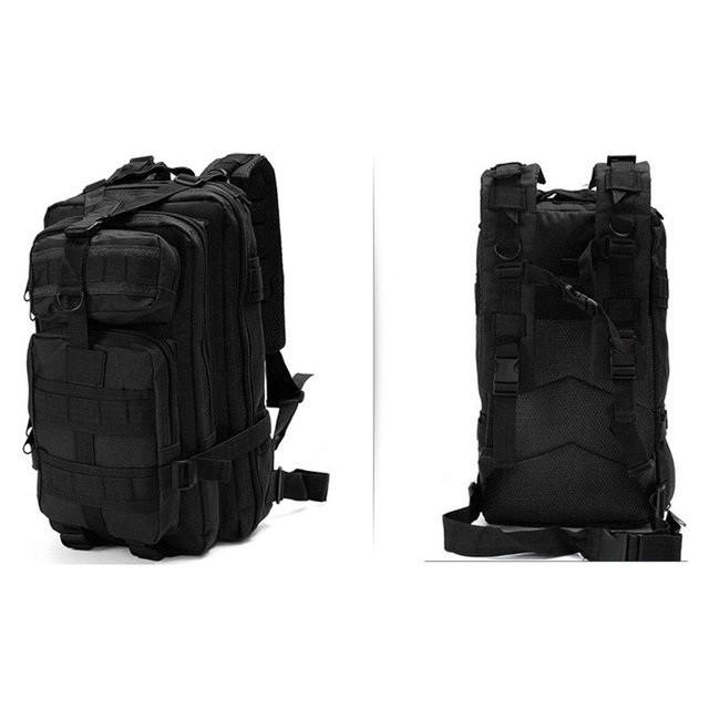 Тактичний (міський) рюкзак Oxford 600D з системою M. O. L. L. E black (ta25)