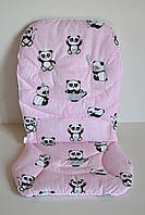 Вкладыш панды в чашках на розовом