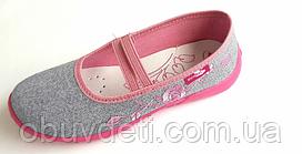32 (20,3 см) тапочки-мокасины renbut для девочек с кожаными стельками