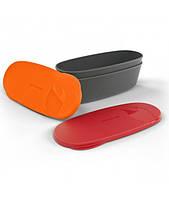 Набор Из 2 Овальных Контейнеров SnapBox Oval Red/Orange (40418613)