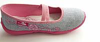 35 (22,5 см) тапочки-мокасины renbut для девочек с кожаными стельками, фото 1
