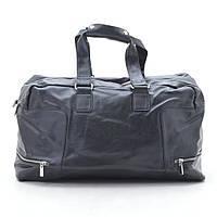 Дорожная сумка 0859-2 черная, кожзам