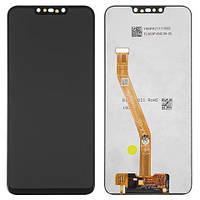 Дисплейный модуль (дисплей и сенсор) для Huawei Nova 3i, черный, оригинал