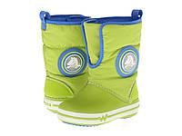 Детские зимние сапоги Крокс Kids' CrocsLights Gust Boot. Оригинал из США. Светятся и мигают.