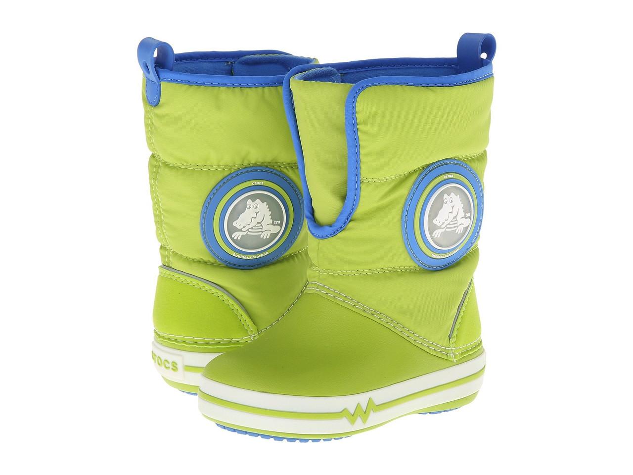Детские зимние сапоги Крокс Kids  CrocsLights Gust Boot. Оригинал из США.  Светятся и fddabbb00292f