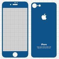 Защитное стекло All Spares для Apple iPhone 7, 0,26 мм 9H, переднее и заднее, синий