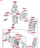 Колодки тормозные передние киа Соренто 4 R17, KIA Sorento 2015-18 UM, 58101c5a70, фото 4