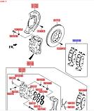 Колодки тормозные передние киа Соренто 4 R18, KIA Sorento 2015-18 UM, 58101c5a75, фото 4
