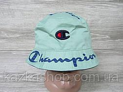 Стильная мужская котоновая панама, панамка, вышивка и накат в стиле Champion (реплика), размер 57-58, фото 2