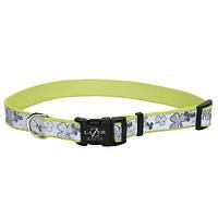 Coastal Lazer свето-отражающий ошейник для собак, 1,6смХ30-45см сердечки розовый | 1,6 см.Х30-45 см.