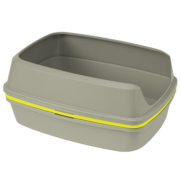 Moderna Lift To Sift Large МОДЕРНА ЛИФТ ТУ СИФТ – туалет с бортиком для котов теплый серый | 57.5Х44Х27 см