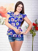 Женская блуза с цветочками р. 44-46 Vik1112