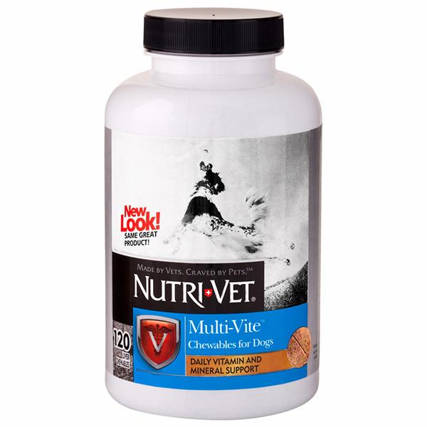 Nutri-Vet Multi-Vite НУТРИ-ВЕТ МУЛЬТИ-ВИТ мультивитамины для собак, жевательные таблетки 60 табл.