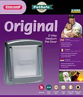 PetSafe Staywell Original ПЕТСЕЙФ СТЕЙВЕЛ ОРИГИНАЛ дверцы для котов и собак средних пород, до 18 кг. серый   352Х294мм