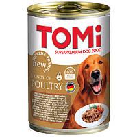 TOMi 3 kinds of poultry ТОМи 3 ВИДА ПТИЦЫ супер премиум корм, консервы для собак 0.4кг