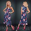 Платье с цветочным принтом / софт / Украина 15-662
