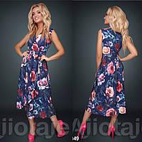 Платье с цветочным принтом / софт / Украина 15-662, фото 1