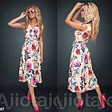 Платье с цветочным принтом / софт / Украина 15-662, фото 2