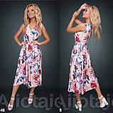 Платье с цветочным принтом / софт / Украина 15-662, фото 3
