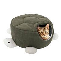 Flamingo Turtle Green ФЛАМИНГО спальное место домик для кошек, в виде черепахи, зеленый, 45х18 см зеленый | 45х18 см