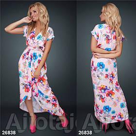Платье с цветочным принтом / софт / Украина 15-667