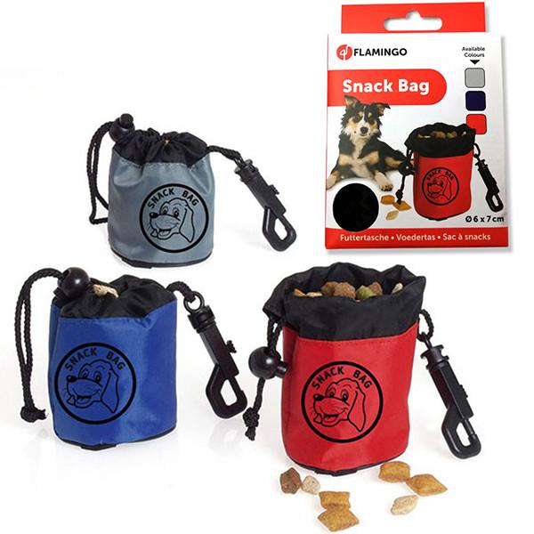 Flamingo SNACK BAG мешочек для лакомств для дрессировки собак, нейлон 6,5х7 см