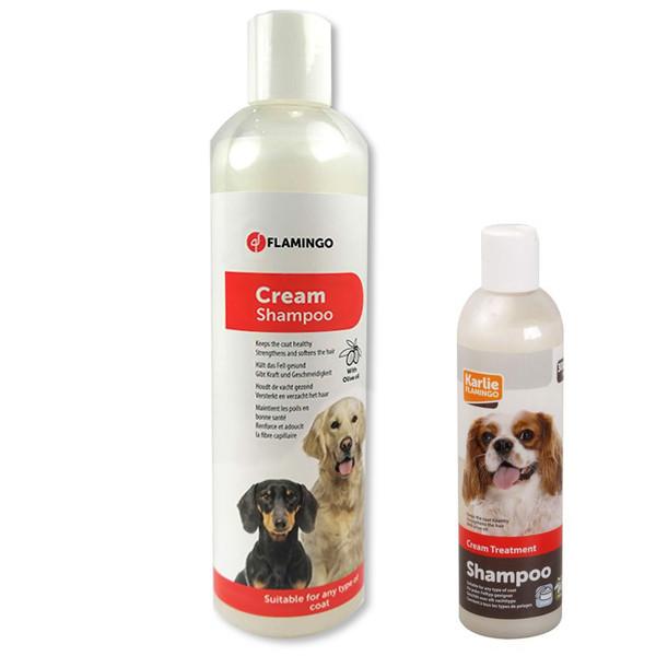 Flamingo Cream Shampoo ФЛАМИНГО КРЕМ ШАМПУНЬ для собак, для крепкой здоровой шерсти с оливковым маслом 0,3