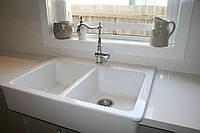 Кухонная накладная керамическая мойка IKEA Domsjo 2