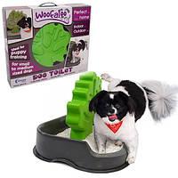 Woofaloo Dog Toilet ВУФАЛУ ТУАЛЕТ C ДЕРЕВОМ СТОЛБИКОМ для кобелей собак малых и средних пород 36х55х45,5 см