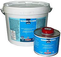 Ваниш-ПУ 2К ВВ сатин (5 кг) 2-компонентное прозрачное не желтеющее полиуретановое покрытие на водной основе.