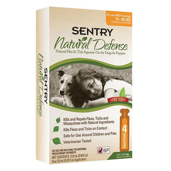 Sentry Natural Defense СЕНТР капли от блох и клещей для собак 7-18 кг 3 мл, 3шт/уп.