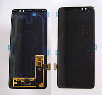 Дисплей (экран) для Samsung A730F Galaxy A8 Plus (2018) + тачскрин, черный, TFT, с регулировкой подсветки