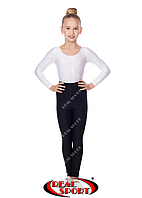 Лосины для художественной гимнастики и танцев, черные RS GM040026 (эластан, р-р 1-4, рост 104-152см)